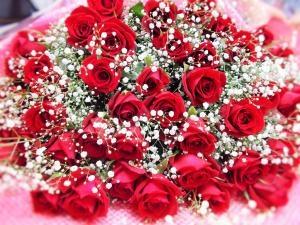 やっぱり薔薇の花束…